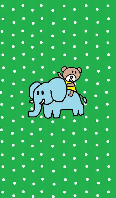 Lilo and elephant (green)
