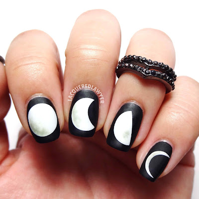 Many Moons Nail Art