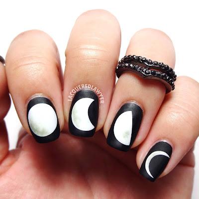 Many Moons Nail Art