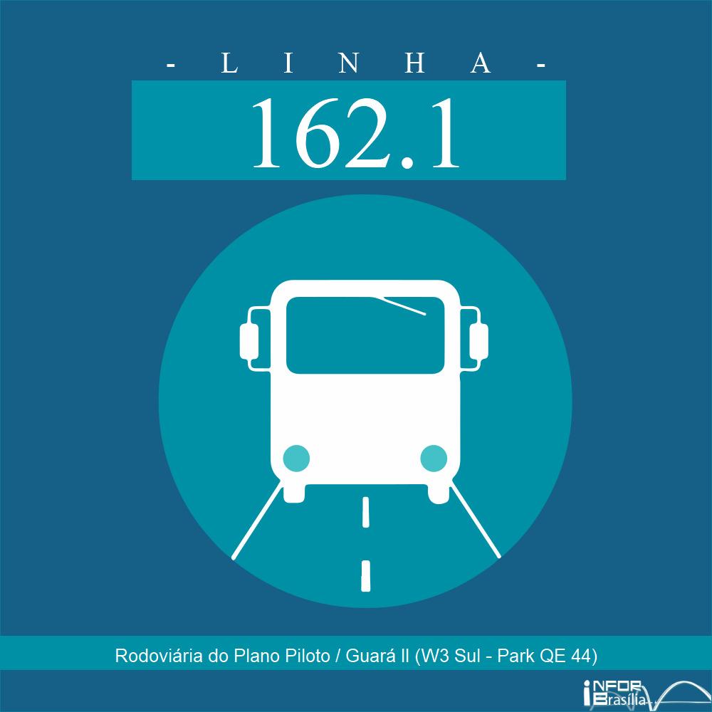 Horário de ônibus e itinerário 162.1 - Rodoviária do Plano Piloto / Guará II (W3 Sul - Park QE 44)