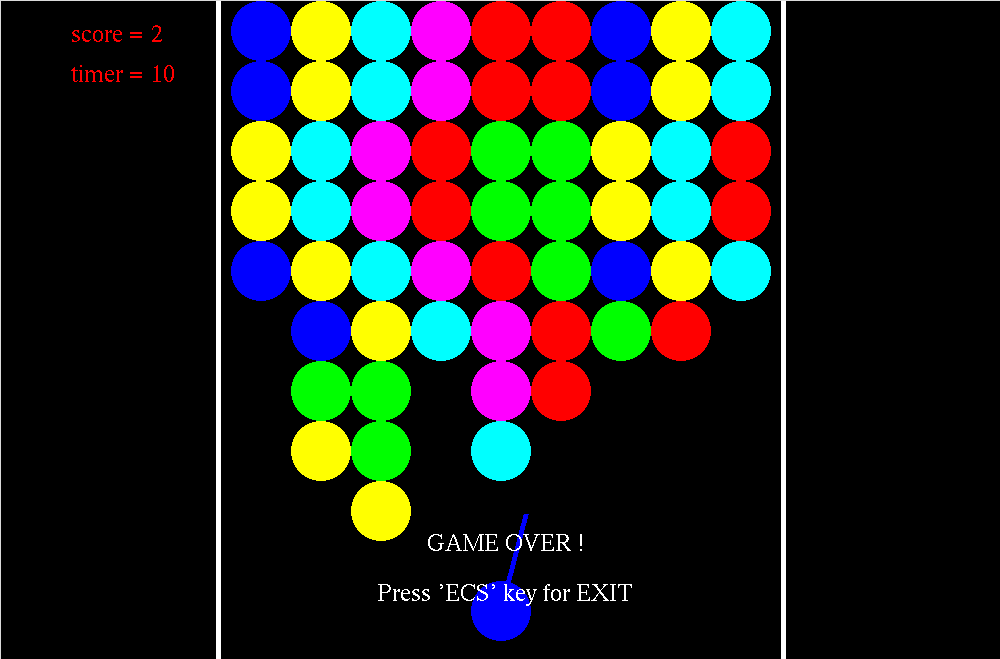 OpenGL Projects: Bubble Shooter Game Computer Graphics