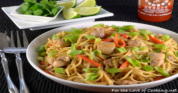 Thai Peanut Chicken Pasta Recipe