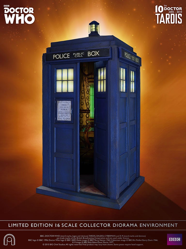 Pre Order 10th Doctor Tardis 1 6 Scale Figure Dioramas