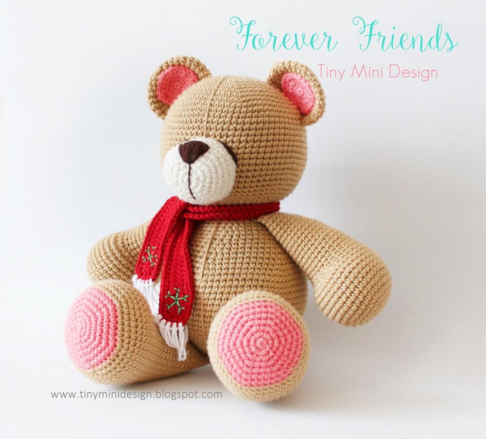 Amigurumi Bear Maya : Amigurumi Bear Forever Friends - Tiny Mini Design
