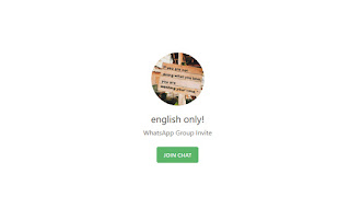 English only whatsapp group link