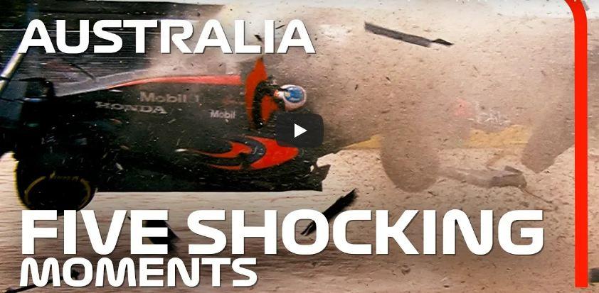 f1 hellenic fan club - 5 σοκαριστικές στιγμές του Gp Αυστραλίας (βίντεο)