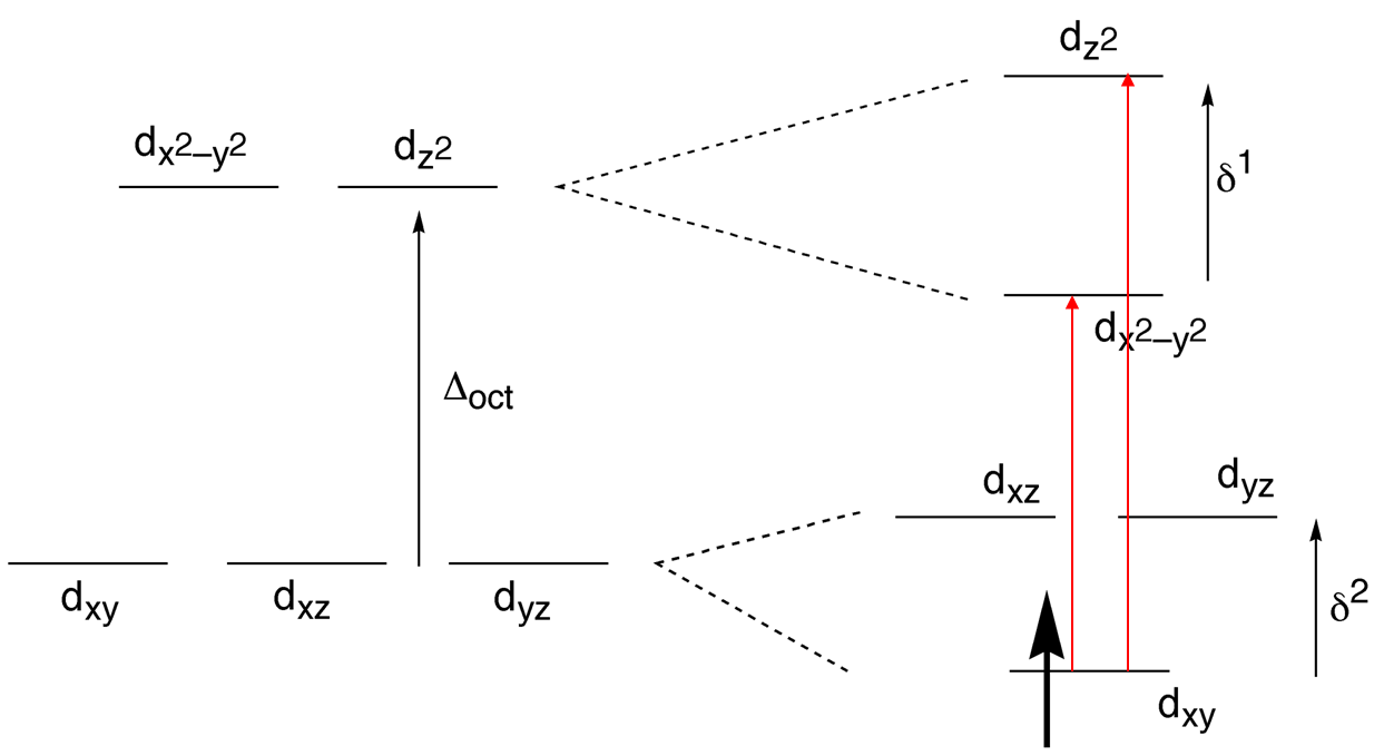 The Chemistry Of D And F Block Absorption Spectrum Complex Orbital Diagram Electronic Transitions Shoulder Peak