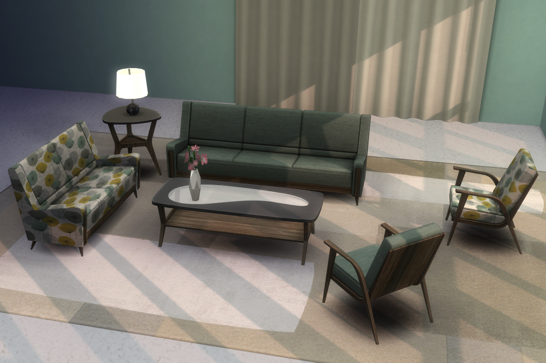 my sims 4 blog ts3 mid century living room set conversion by alex