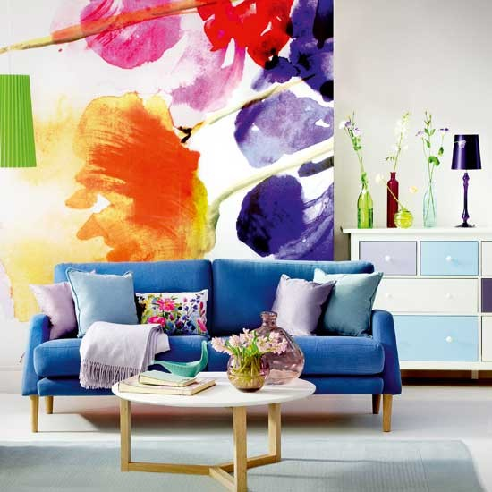 Modern & Colourful Living Room