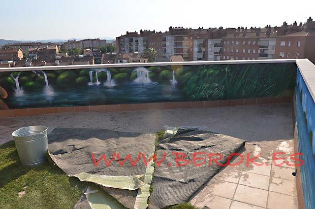 mural terraza pintado a mano