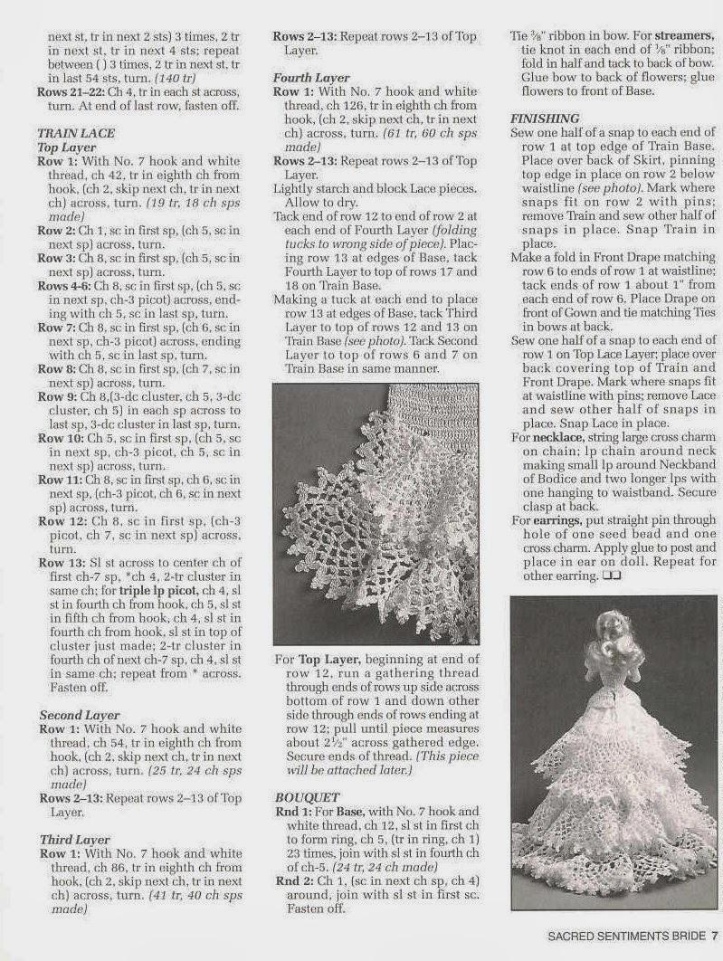 Vestido de Noiva de Crochê Para a Barbie Sacred Sentiments Bride