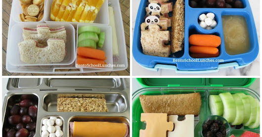 4 Puzzle Themed School Lunches