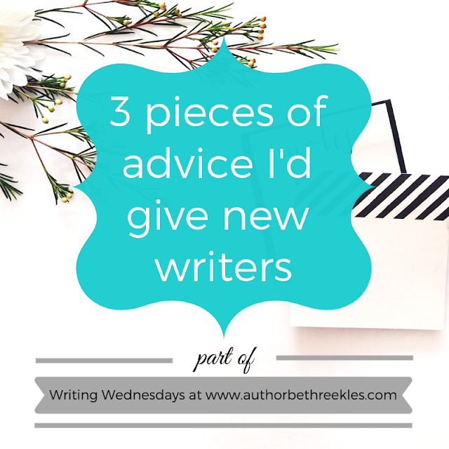 If you're a new writer looking for advice, I share my top three pieces of advice in this post.