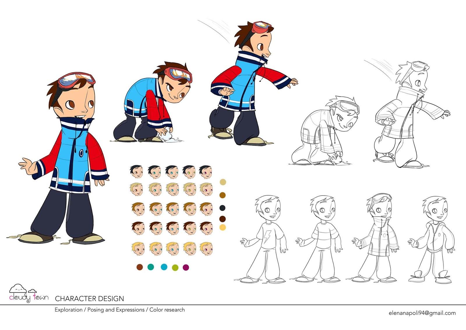 Character Design Visual Development : Elena napoli