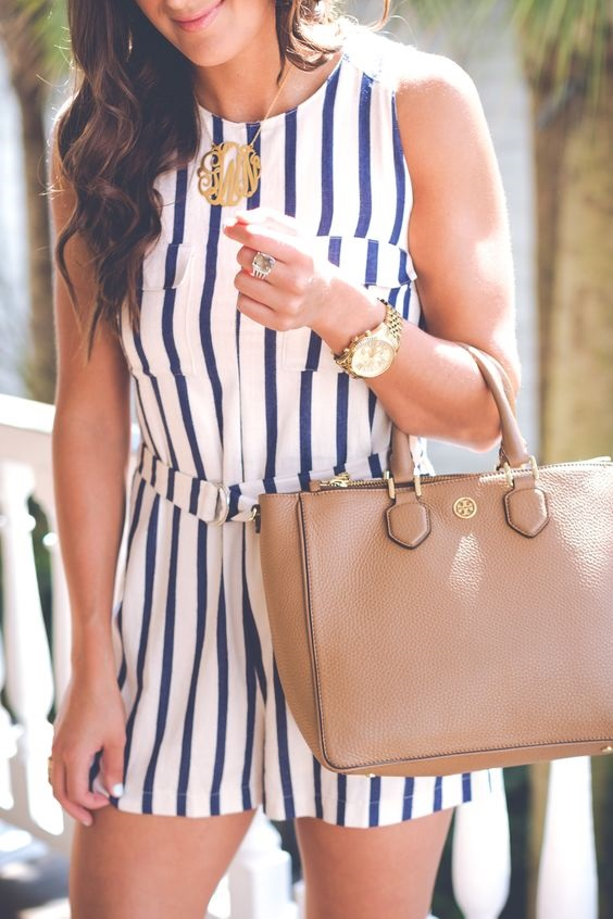 summer striped overalls