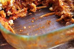 Vegan Baked Spaghetti with Kale, Mushrooms, & Tofu Ricotta