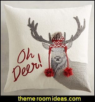 Oh Deer Pillow   Christmas decorating ideas - Christmas decor - Christmas decorations - Christmas kitchen decor - santa belly pillows - Santa Suit Duvet covers - Christmas bedding - Christmas pillows - Christmas  bedroom decor  - winter decorating ideas - winter wonderland decorating - Christmas Stockings Holiday decor Santa Claus - decorating for Christmas - 3d Christmas cards - xmas tree decor