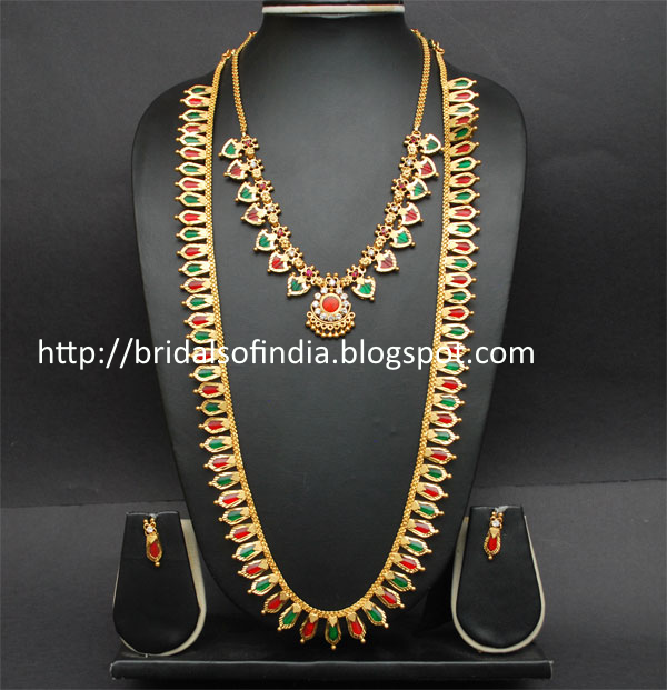 Fashion world: Kerala traditional jewellery - Red and ...