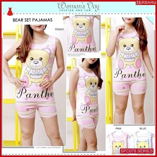 SCP079P64 Piyama Bear Pajamas Set Baju Tidur Wanita | BMGShop
