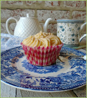 Tea flavoured cupcakes, made by infusing the tea flavour in butter