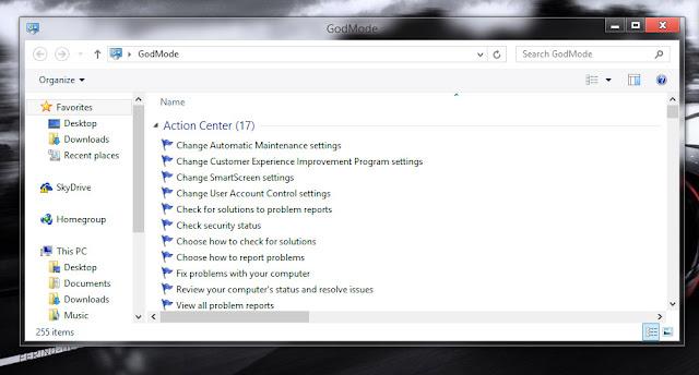 God Mode on Windows 10