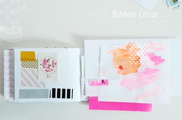 inspiration  - creativity - collages - bohème circus - carnet - visual journal