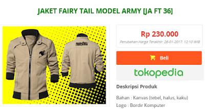 jual jaket anime fairy tail keren