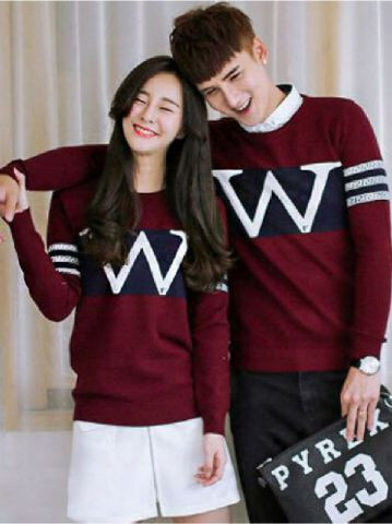 Jual Online Sweater Wonder Neo Maroon Black Murah Jakarta Bahan Babytery Terbaru