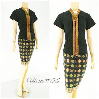 Model Baju Rok Blouse Batik Modern Velisa06 hitam