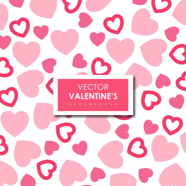 Simple Valentine's Vector Hearts Background Free Vector