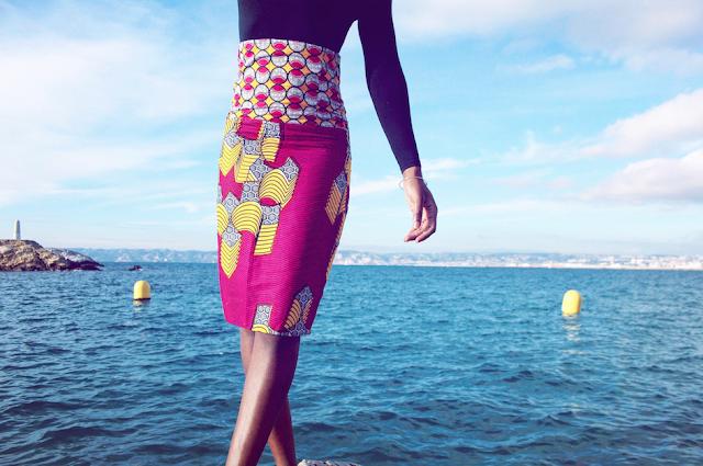 blog mode afro, blog mode marseille, jupe wax, foulard wax