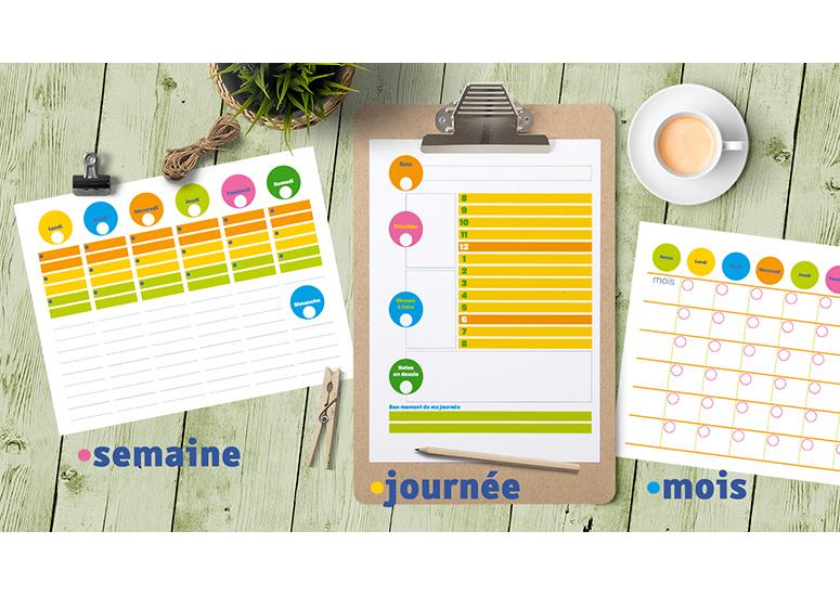 Planifier votre temps en couleur for Planifier votre propre maison