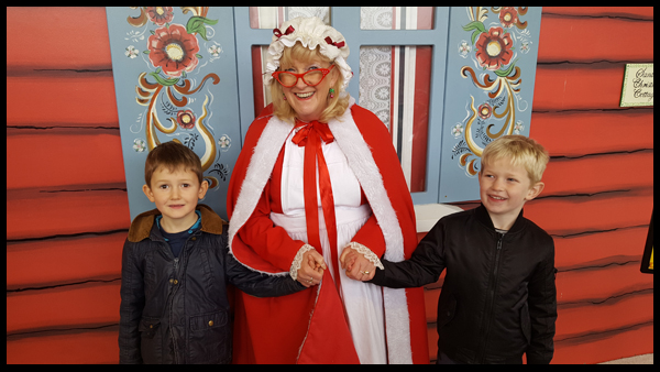 Hanging out with Mrs Claus at Drusillas