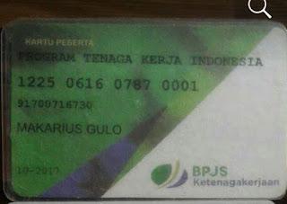 Contoh kartu peserta BPJS Ketenagakerjaan TKI luar negeri