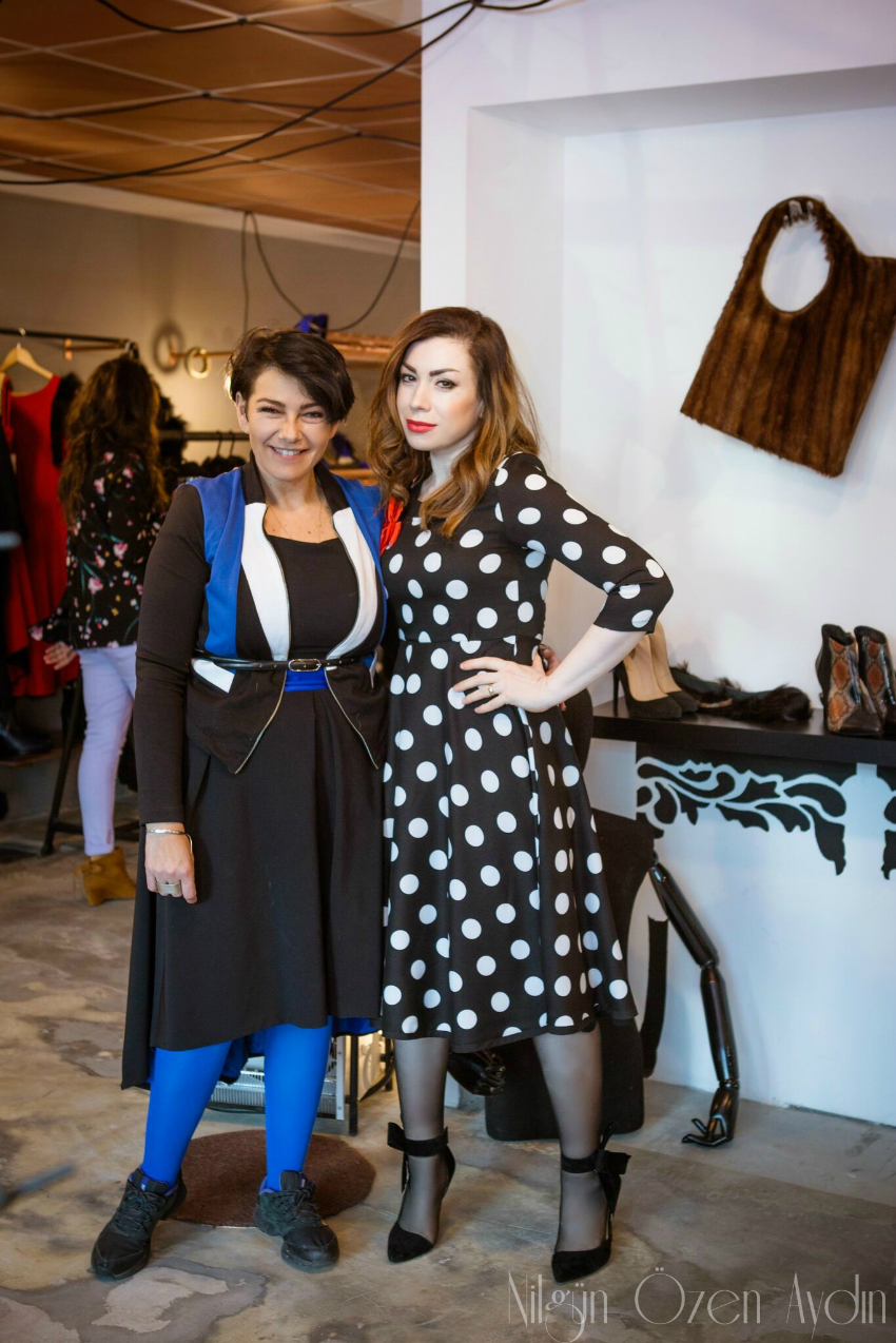 alışveriş-vintage elbise-puantiyeli elbise-vintage modası-60lı yılların modası