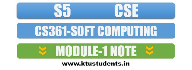 cs361 soft computing note module1