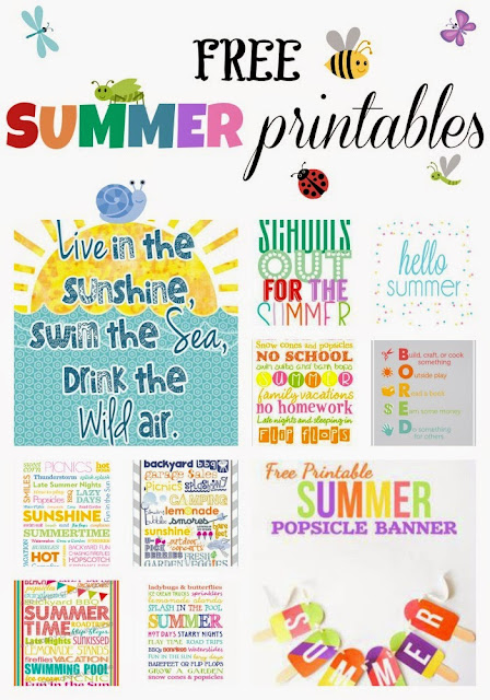 While I'm Waiting...free summer printables round-up