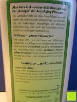 Information: GrüNatur Gesundheitsapotheke - Aloe Vera-Gel