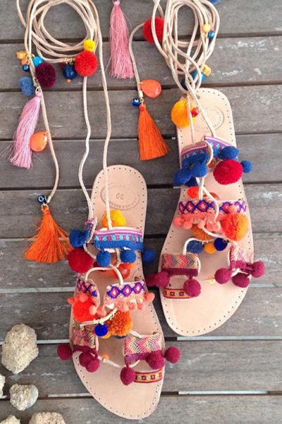 sandali con pon pon come abbinare i sandali con pon pon scarpe tendenza estate 2016 sandali alameda turquesa  fashion blog italiani mariafelicia magno fashion blogger colorblock by felym summer shoes pom pom sandals pom pom gladiators alameda turquesa sandals how to wear pom pom sandals