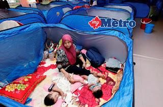 Mangsa Perpindahan Banjir Terengganu Meningkat