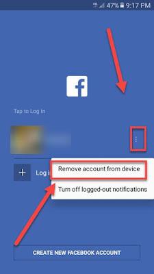 cara menghapus akun facebook dari hp android