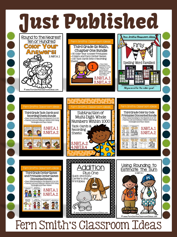 Fern Smith's TeachersPayTeachers BOOST Sale with TPT Discount Code for my Just Published Items!