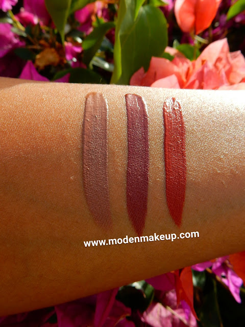 Lonely Planet Cosmetics liquid lipstick swatches - www.modenmakeup.com