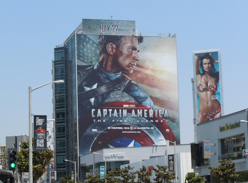 Giant Captain America billboard