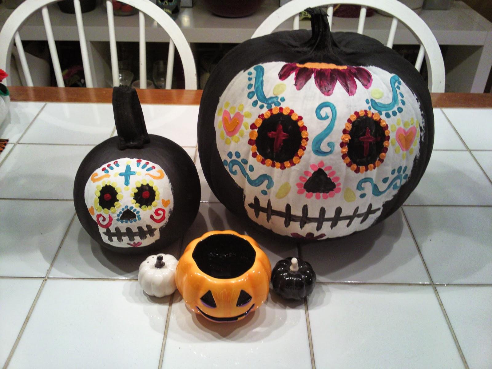 DIY Sugar Skull Pumpkins ~ SugarSkull Industries