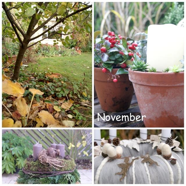 Adventskranz aus Filz und Moos Adventsdeko für den Gartentisch