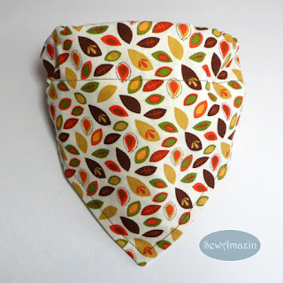 Autumn Dog Bandana, Tiny Fall Leaves