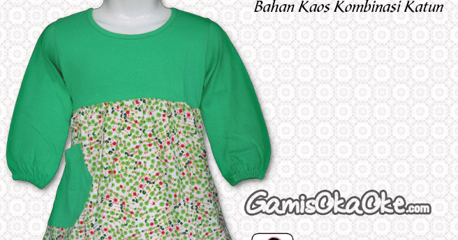 Gamis Anak Merk Oka Oke Model Kerah Polos Baju Gamis