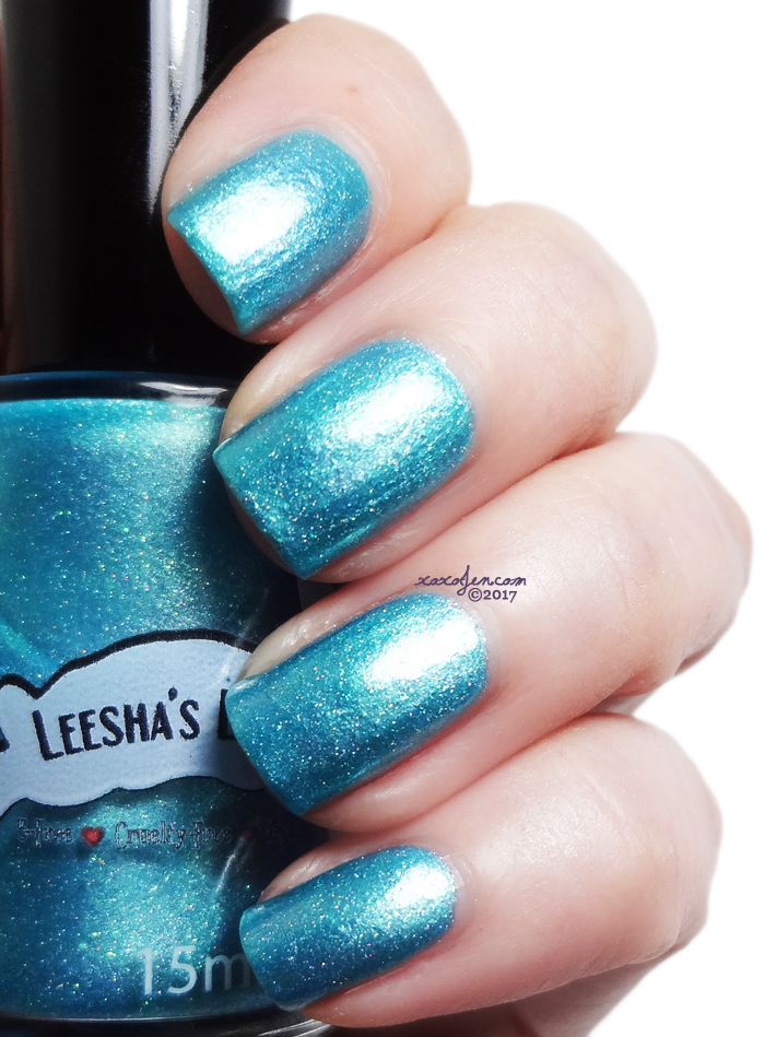 xoxoJen's swatch of Leesha's Lacquer Once In A Blue Moon