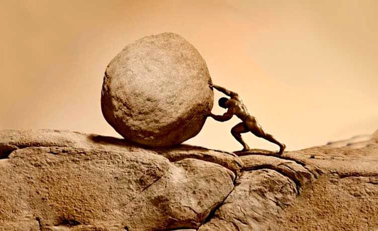 Image result for Greek legend of Sisyphus